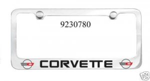 C4 Corvette Engraved License Plate Frame