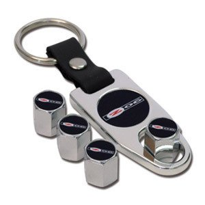 Z06 Corvette Logo Valve Stem Cap - Chrome - Gift Set