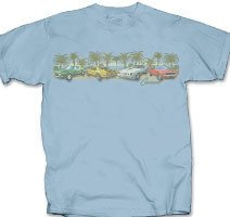 Camaro's Among the Palms Light Blue T-Shirt - 2XL