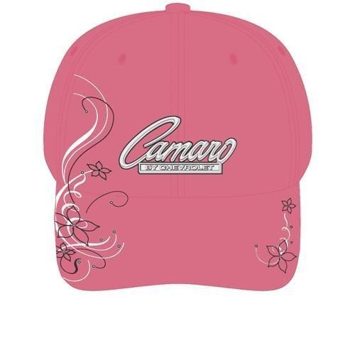 Women's Pink Camaro Script Hat with Rhinestones