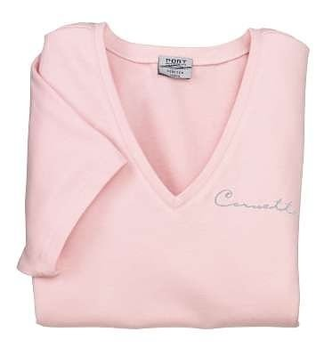 Women's Light Pink Corvette Classic Script T-Shirt - L