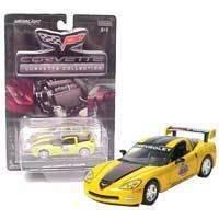C6 2005 Daytona 500 Yellow & Blk Corvette 1:64 Diecast
