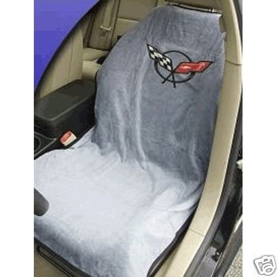 C5 Corvette Seat Armour 100% Cotton Seat Cover 2PK Grey