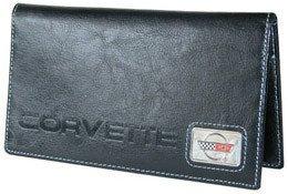Corvette C4 Checkbook Cover - Black Leather