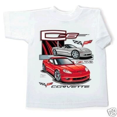 Children's C6 and Z06 Corvette White T-Shirt - 2-4
