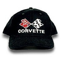 C3 Corvette Black Low Profile Cotton Brushed Twill Hat