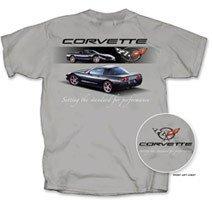 """C5 Corvette """"Setting the Standard..."""" Grey T-Shirt - L"""