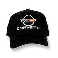 C4 Corvette Black Low Profile Brushed Twill Hat