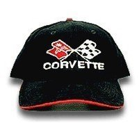 C3 Corvette Black & Red Piping Brushed Twill Hat