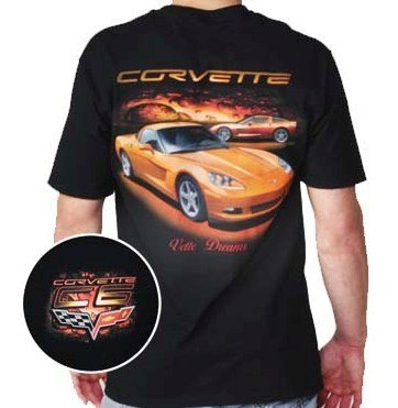 "C6 Corvette ""Vette Dreams"" Black T-Shirt - L"
