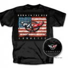 "C5 Corvette ""Born In The USA"" Black T-Shirt - 2XL"