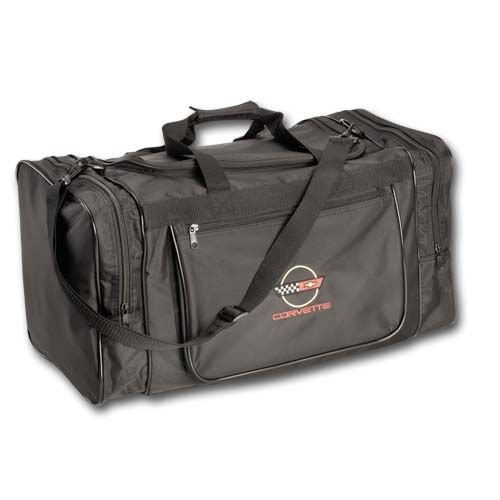 C4 Corvette Black Nylon Sport Bag