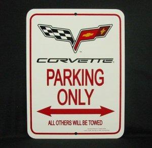 C6 2005-Present Corvette Parking Only Sign