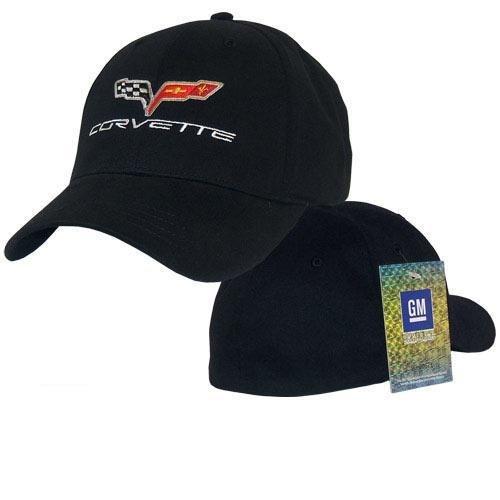 C6 Corvette Black Script Max Flex Hat