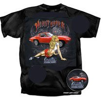 "C2 Corvette Stingray ""Head Turner"" Pinup T-Shirt - XL"