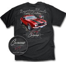 67 Camaro Legendary Muscle Black T-Shirt - L