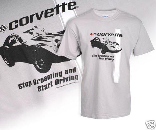 "C3 Corvette ""Stop Dreaming"" Gray T-Shirt - 2XL"