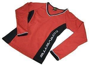 Women's Corvette Red & Black Long Sleeve V-Neck - L