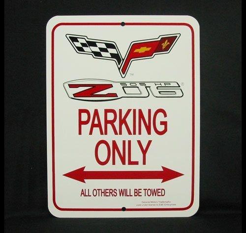 C6 Z06 2005 - Present Corvette Parking Only Sign