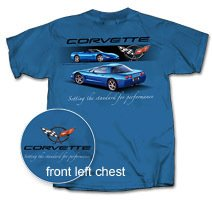 "C5 Corvette ""Setting the Standard..."" Blue T-Shirt - L"