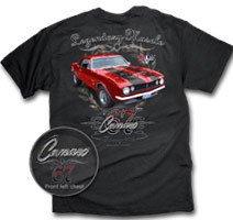67 Camaro Legendary Muscle Black T-Shirt - XL