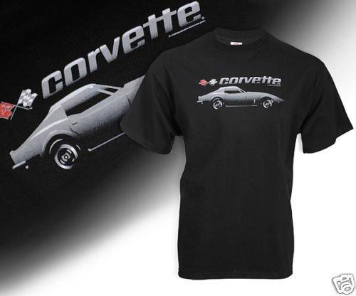 C3 Corvette Black Shadow T-Shirt - 2XL
