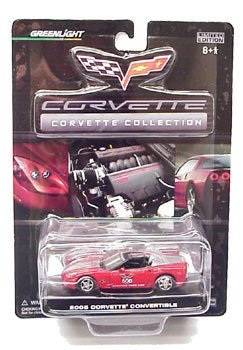 C6 2005 Indy 500 Red and Silver Conv. Corvette 1:64 Diecast