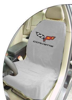 C6 Corvette Seat Armour 100% Cotton Seat Cover - 2PK Grey