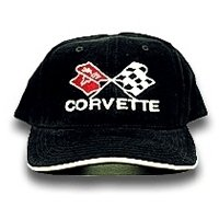 C3 Corvette Black & White Piping Brushed Twill Hat