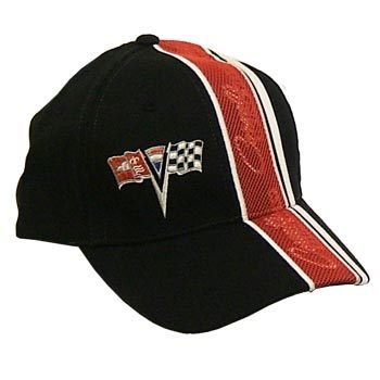 C2 Corvette Inset Mesh Black Twill Hat