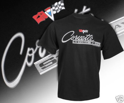 C2 Corvette Stingray Emblem and Lettered Black Shirt - L