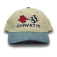 C3 Corvette Blue & Khaki Low Profile Brushed Twill Hat