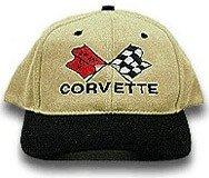 C3 Corvette Black & Khaki Low Profile Brushed Twill Hat