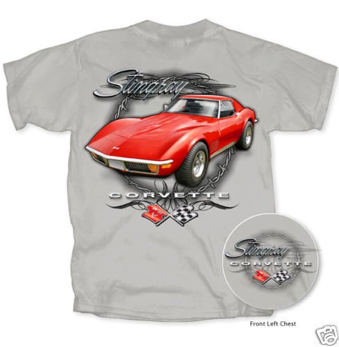 C3 Corvette Stingray Barbwire Gray T-Shirt - 2XL
