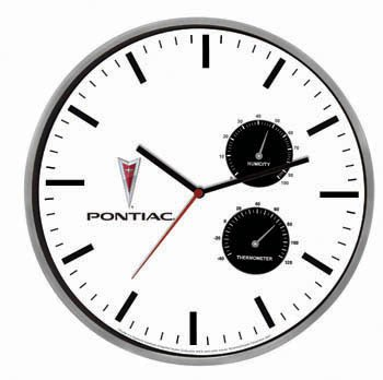 Pontiac Weather Station Clock