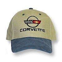 C4 Corvette Blue & Khaki Low Profile Brushed Twill Hat