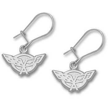 C5 Corvette Sterling Silver Dangle Earrings