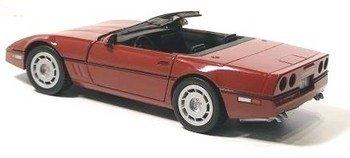 C4 1986 Dark Red Corvette Convertible 1:24 Diecast