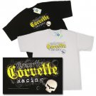 Jake Corvette Racing Embroidered T-Shirt - 2XL