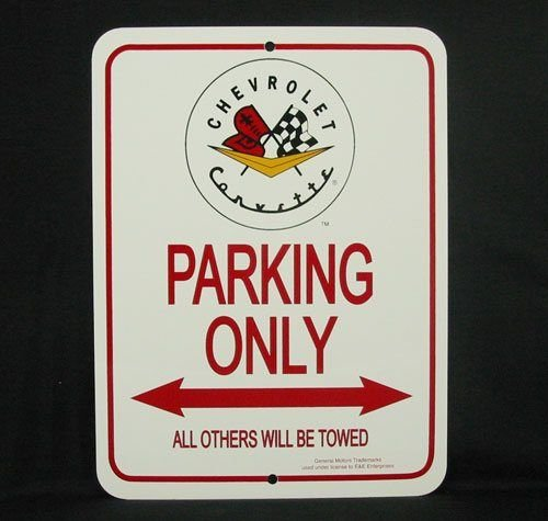 C1 1953-1962 Corvette Parking Only Sign