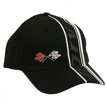 C3 Corvette Inset Mesh Black Twill Hat