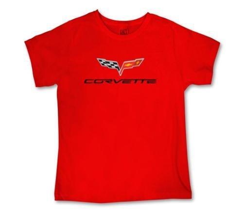 Women's C6 Corvette Logo Red T-Shirt - 2XL