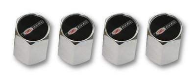 Z06 Corvette Logo Valve Stem Caps - Chrome - (Set of 4)