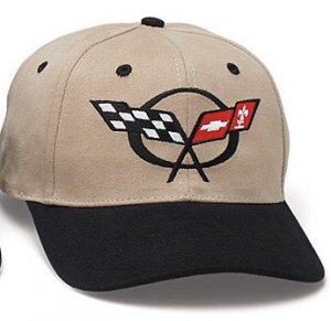 C5 Corvette Black/Khaki Low Profile Brushed Twill Hat