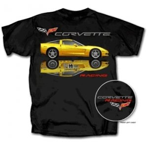 C6 Corvette Coupe and Corvette Racing T-Shirt - M