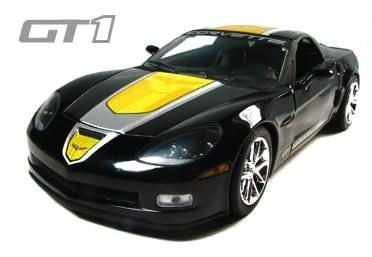 C6 2009 Black Corvette Z06 GT-1 1:24th Diecast