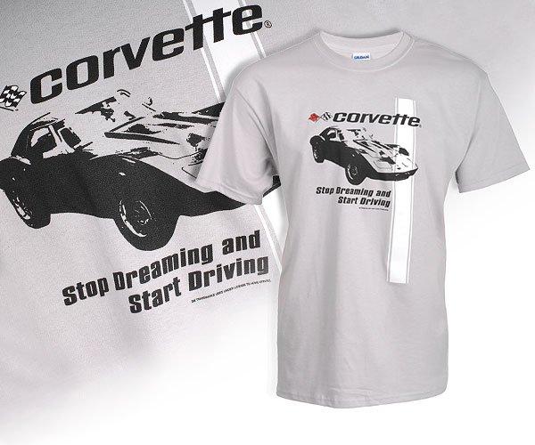 "C3 Corvette ""Stop Dreaming"" Gray T-Shirt - M"