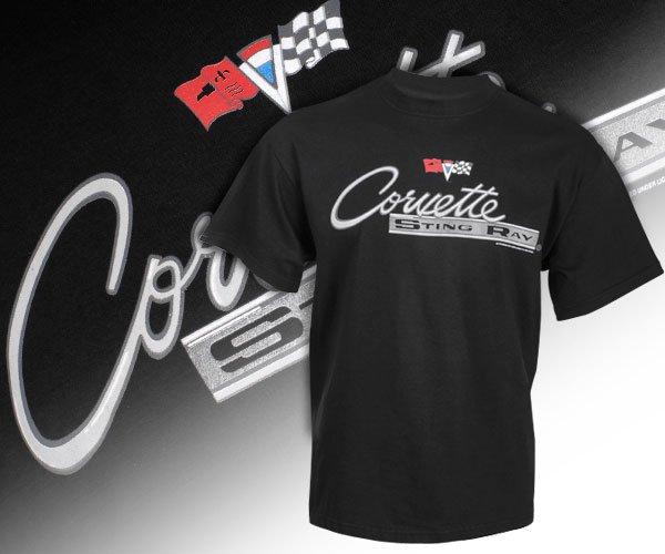 C2 Corvette Stingray Emblem & Lettered Black Shirt - 2XL