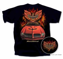 Pontiac Firebird Black T-Shirt - XL