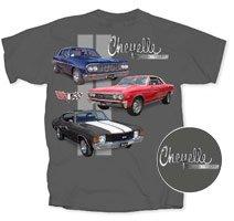 Chevrolet 3 Chevelle's Gray T-Shirt - 2XL